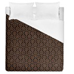 HEXAGON1 BLACK MARBLE & RUSTED METAL (R) Duvet Cover (Queen Size)