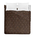 HEXAGON1 BLACK MARBLE & RUSTED METAL (R) Duvet Cover Double Side (Full/ Double Size)