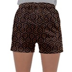 HEXAGON1 BLACK MARBLE & RUSTED METAL (R) Sleepwear Shorts