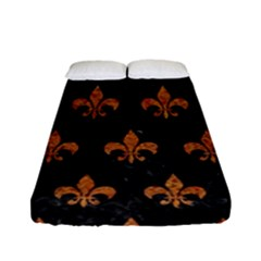 Royal1 Black Marble & Rusted Metal Fitted Sheet (full/ Double Size) by trendistuff