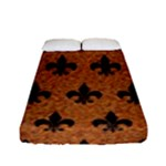 ROYAL1 BLACK MARBLE & RUSTED METAL (R) Fitted Sheet (Full/ Double Size)