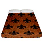 ROYAL1 BLACK MARBLE & RUSTED METAL (R) Fitted Sheet (King Size)