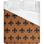 ROYAL1 BLACK MARBLE & RUSTED METAL (R) Duvet Cover (California King Size)