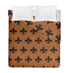 ROYAL1 BLACK MARBLE & RUSTED METAL (R) Duvet Cover Double Side (Full/ Double Size)