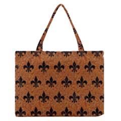 Royal1 Black Marble & Rusted Metal (r) Zipper Medium Tote Bag by trendistuff