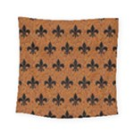 ROYAL1 BLACK MARBLE & RUSTED METAL (R) Square Tapestry (Small)