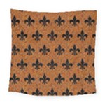 ROYAL1 BLACK MARBLE & RUSTED METAL (R) Square Tapestry (Large)