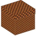 SCALES1 BLACK MARBLE & RUSTED METAL Storage Stool 12