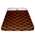SCALES1 BLACK MARBLE & RUSTED METAL Fitted Sheet (King Size)