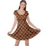 SCALES1 BLACK MARBLE & RUSTED METAL Cap Sleeve Dress