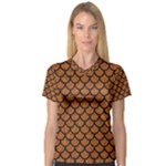 SCALES1 BLACK MARBLE & RUSTED METAL V-Neck Sport Mesh Tee
