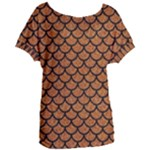 SCALES1 BLACK MARBLE & RUSTED METAL Women s Oversized Tee