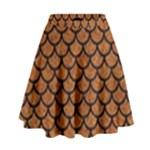 SCALES1 BLACK MARBLE & RUSTED METAL High Waist Skirt