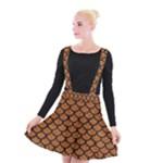 SCALES1 BLACK MARBLE & RUSTED METAL Suspender Skater Skirt