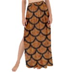SCALES1 BLACK MARBLE & RUSTED METAL Maxi Chiffon Tie-Up Sarong