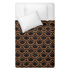 Scales2 Black Marble & Rusted Metal (r) Duvet Cover Double Side (single Size) by trendistuff