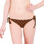 SCALES3 BLACK MARBLE & RUSTED METAL Bikini Bottom