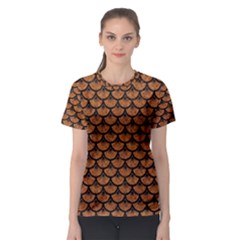 Scales3 Black Marble & Rusted Metal Women s Sport Mesh Tee by trendistuff