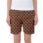 SCALES3 BLACK MARBLE & RUSTED METAL Women s Basketball Shorts