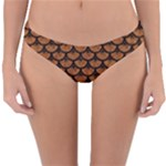 SCALES3 BLACK MARBLE & RUSTED METAL Reversible Hipster Bikini Bottoms