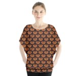 SCALES3 BLACK MARBLE & RUSTED METAL Blouse