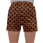 SCALES3 BLACK MARBLE & RUSTED METAL Sleepwear Shorts