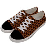 SCALES3 BLACK MARBLE & RUSTED METAL Women s Low Top Canvas Sneakers
