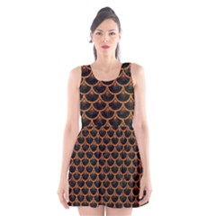 Scales3 Black Marble & Rusted Metal (r) Scoop Neck Skater Dress by trendistuff