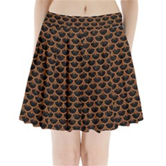 Scales3 Black Marble & Rusted Metal (r) Pleated Mini Skirt by trendistuff
