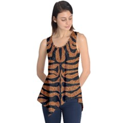 Skin2 Black Marble & Rusted Metal Sleeveless Tunic by trendistuff