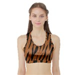 SKIN3 BLACK MARBLE & RUSTED METAL Sports Bra with Border