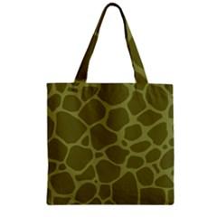 Autumn Animal Print 1 Zipper Grocery Tote Bag by tarastyle