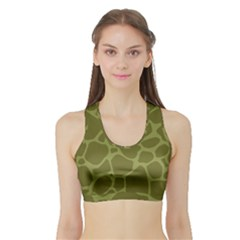Autumn Animal Print 1 Sports Bra With Border by tarastyle