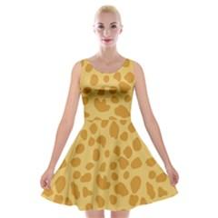 Autumn Animal Print 2 Velvet Skater Dress