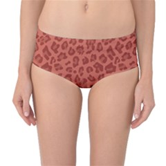 Autumn Animal Print 4 Mid Waist Bikini Bottoms by tarastyle