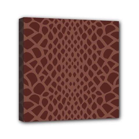 Autumn Animal Print 5 Mini Canvas 6  X 6  by tarastyle