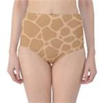 Autumn Animal Print 10 High-Waist Bikini Bottoms