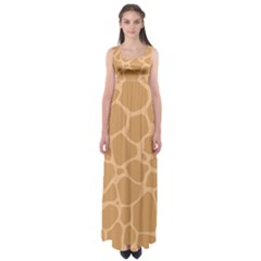 Autumn Animal Print 10 Empire Waist Maxi Dress by tarastyle