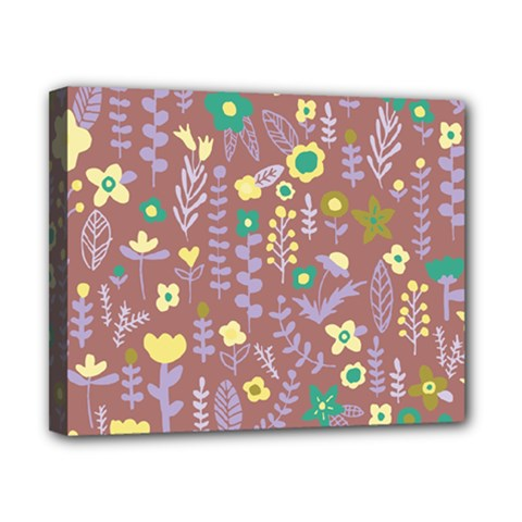 Cute Doodle Flowers 3 Canvas 10  X 8  by tarastyle