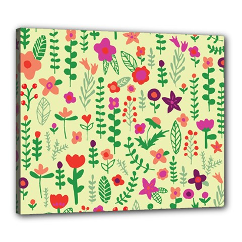 Cute Doodle Flowers 5 Canvas 24  X 20  by tarastyle