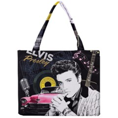 Elvis Presley Collage Mini Tote Bag by Valentinaart