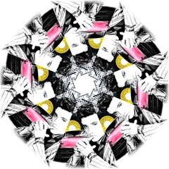 Elvis Presley Collage Straight Umbrellas by Valentinaart