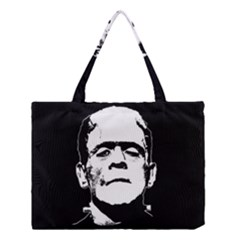 Frankenstein s Monster Halloween Medium Tote Bag by Valentinaart