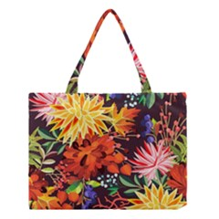 Autumn Flowers Pattern 2 Medium Tote Bag by tarastyle