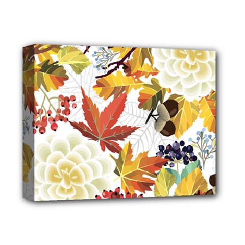 Autumn Flowers Pattern 3 Deluxe Canvas 14  X 11  by tarastyle