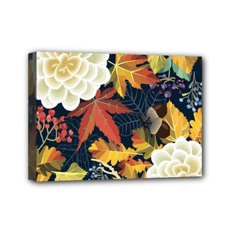 Autumn Flowers Pattern 4 Mini Canvas 7  X 5  by tarastyle