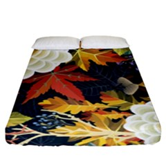 Autumn Flowers Pattern 4 Fitted Sheet (king Size) by tarastyle