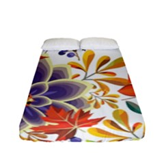 Autumn Flowers Pattern 5 Fitted Sheet (full/ Double Size) by tarastyle