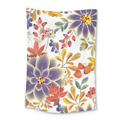Autumn Flowers Pattern 5 Small Tapestry by tarastyle