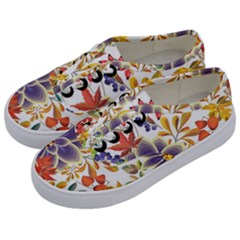 Autumn Flowers Pattern 5 Kids  Classic Low Top Sneakers by tarastyle